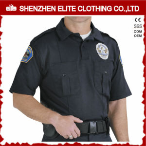 2017 Cheap Wholesale Men Light Blue White Custom Us Police Shirt (ELTHVJ-287) pictures & photos