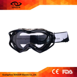 Motorcycle off-Road Racing Goggles Winter Skate Sled ATV Eyewear Motocross Dh MTB Glasses Single Lens Clears pictures & photos