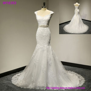 High Quality New Fashion Lace Mermaid Champagne and Ivory Wedding Dresses Bridal Gown pictures & photos