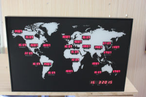 Large LED Digital World Time Wall Clock pictures & photos