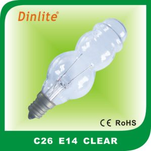 C26 E14 110-240V pagoda shape incandescent bulb pictures & photos