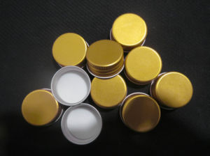18 mm 20 mm Gold Aluminum Screw Lids