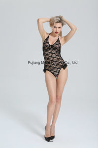 Ladies Lingerie Lace Teddy with Bikini Design for Woman pictures & photos