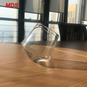 Diamond Shaped Slanted-Bottom Whisky Glass pictures & photos