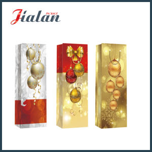 Cheap Promotional Christmas Wine Bottle Carrier Shopping Gift Paper Bags pictures & photos
