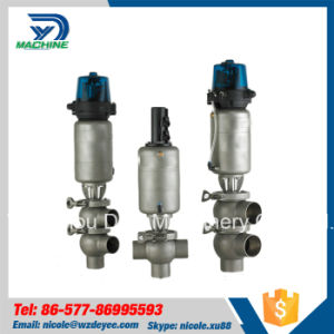 Stainless Steel Hygienic Pneumatic Mixproof Valve with Control Top pictures & photos