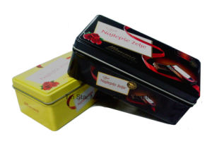 Rectangular Tin Box for Chocolate and Candy Tin Gift Packaging Box