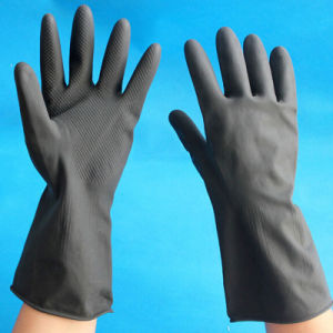 Industrial Rubber Heavy Duty Work Safety Household Latex Gloves pictures & photos