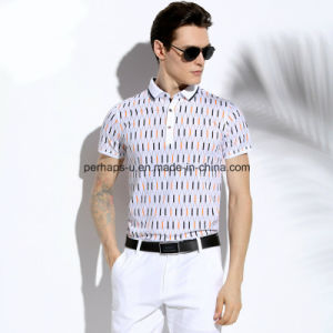 High Quality Skinny Printing Hollow Men Polo Shirt Sports Wear pictures & photos