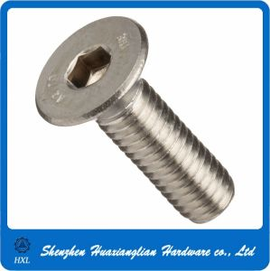 M3 M4 M5 Stainless Steel Flat Allen Head Screw pictures & photos