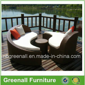 Outdoor Wicker Sun Lounge Furniture for Garden pictures & photos