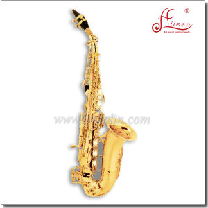 Professional Gold Laquer Chinese Soprano Saxophone pictures & photos