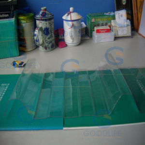 High Quality Colored Anti-UV Corrugated Polycarbonate Plastic Sheet Price pictures & photos