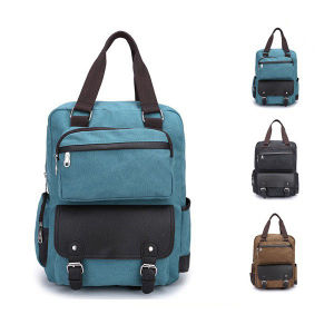 Blank Pattern Laptop School Vintage Canvas Backpack Sh-15113019 pictures & photos