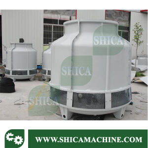 Round Shape Counter Flow Water Cooling Tower with Fiberglass Material pictures & photos