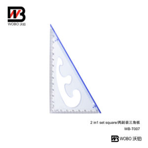 School Triangular Plastic Ruler Set for Office Stationery pictures & photos
