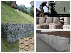 PVC Coated Galvanized Gabion Box Manufacturer pictures & photos
