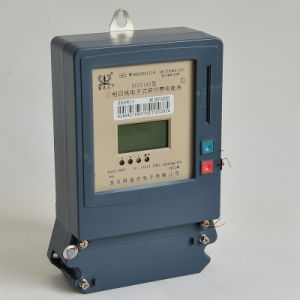 Three Phase Prepayment Electric Energy Meter with LCD/LED pictures & photos