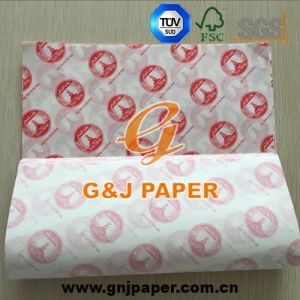 Good Strength Printed Greaseproof Wrap Paper for Food Wrapping pictures & photos