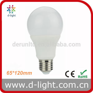 A65 E27 B22 Standard CE RoHS Plastic Aluminum 270 Degree Epistar SMD2835 IC 12W LED Bulb pictures & photos