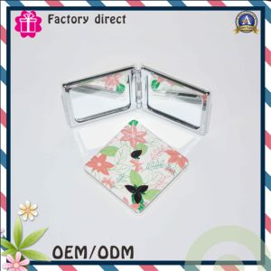 Double Side Flower Design Cheap Price Promotion Gift Make up Mirror pictures & photos