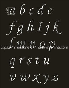 Newest Alphabet DMC Crystal Hot Fix Motif for T-Shirt (TM-81) pictures & photos