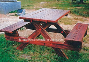 Park Bench, Picnic Table, Cast Iron Feet Wooden Bench, Park Furniture FT-Pb038 pictures & photos