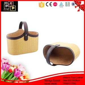 Luxury PU Leather Handle and Divider Christmas Cosmetic Gift Packs (8085) pictures & photos