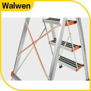Household Agility Folding 6 Step Handrail Ladder pictures & photos