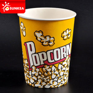 Custom Printed Paper Popcorn Pail pictures & photos