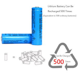 18650 4000 mAh 3.7V Rechargeable Battery for LED Flashlight pictures & photos