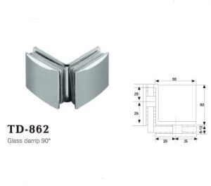 Use for Tempering Glass High Quality Brass Glass Clip /Td-862 pictures & photos