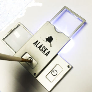 PVC Materials Slide in-out Magnifying Glass with Light pictures & photos