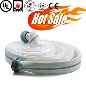 1 Inch PVC Canvas Double Jacket Fire Hose, Fire Fighting Wearproof Hose pictures & photos
