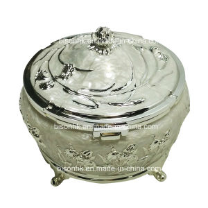 Zinc Alloy Diamond Jewelry Storage Box pictures & photos