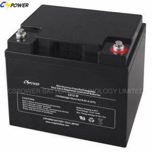 Top Quality Solar Gel Battery 12V38ah with 3years Warranty Cg12-38 pictures & photos
