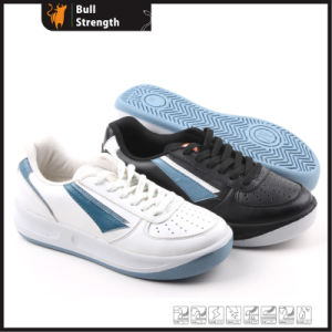 Leisure Leather Shoe with PU Injection Outsole (SN5159) pictures & photos