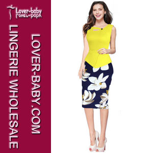 Ladies Office Trendy Fashion Dress (L36113-4) pictures & photos