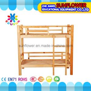 Children Double Layer Wooden Beds for Kindergarten Furniture