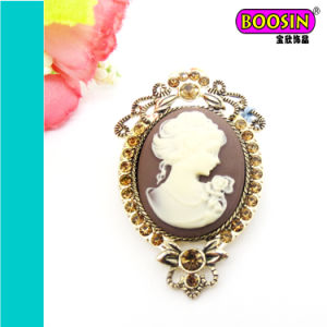 China Wholesale Vintage Classical Antique Cameo Brooch Pin pictures & photos