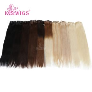 Top Brazilian Human Hair Extensions Clip in Virgin Human Hair pictures & photos
