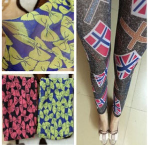 Fasion New 2015 Factory Direct Sale Spring Summer Personality Printed Nine Points Cultivate Leggings