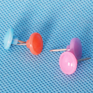 Coloured Plastic Button Push Pin (QX-HP006) 11*16mm pictures & photos