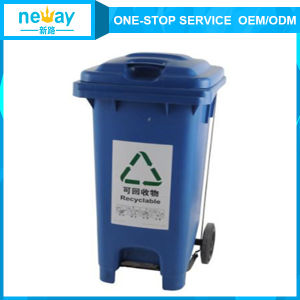 Hot Sale Blue 120L Outdoors Dustbin with Wheel pictures & photos