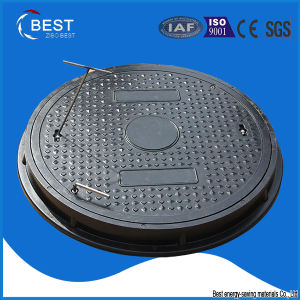 A15 SMC Round Composite Sewer Manhole Cover with Frame pictures & photos