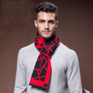 Men′s Fashion Winter Warm Wool Nylon Acrylic Woven Scarf (YKY4616) pictures & photos