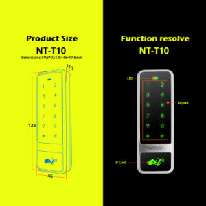 Metal Fashion Type Touch Access Controller for a Single Entrance Door pictures & photos
