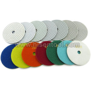 "4"" Economy Wet Polishing Pads Made of White Resin pictures & photos"