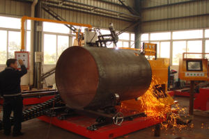 2.5m Big Diameter Pipe Profile CNC Plasma and Flame Cutting Machines pictures & photos