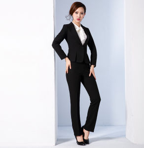 Made to Measure Fashion Stylish Office Lady Formal Suit Slim Fit Pencil Pants Pencil Skirt Suit L51609 pictures & photos